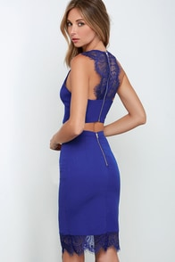 Waltz With Me Royal Blue Lace Two-Piece Dress at Lulus.com!