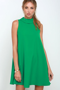 Mod Maven Green Swing Dress at Lulus.com!