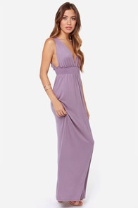 LULUS Exclusive At Great Length Dusty Purple Maxi Dress at Lulus.com!