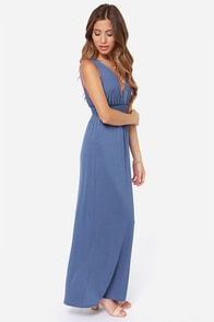 LULUS Exclusive At Great Length Blue Maxi Dress at Lulus.com!