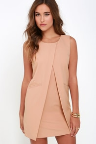 Tux Influx Nude Dress at Lulus.com!