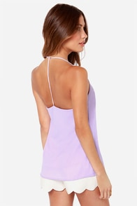 LULUS Exclusive Undivided Attention Lavender Tank Top at Lulus.com!