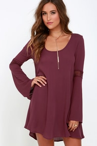 Others Follow Brennan Burgundy Shift Dress at Lulus.com!