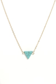 Planet of the Apex Turquoise Pendant Necklace at Lulus.com!