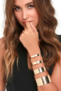 Arm Candy Gold Bracelet Set at Lulus.com!