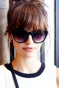 Second Sight Black Sunglasses at Lulus.com!