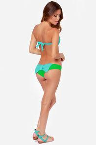 Lolli Zanny and Away Green and Aqua Bow Bikini at Lulus.com!