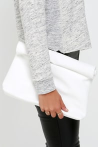 Roll Along White Clutch at Lulus.com!