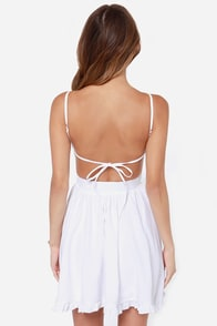 LULUS Exclusive Can't Go Wrong White Dress at Lulus.com!