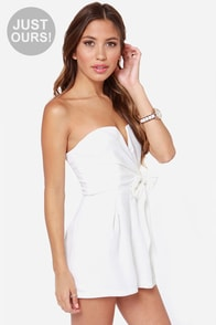 LULUS Exclusive Tie it all Together Ivory Romper at Lulus.com!