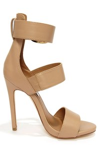 Steve Madden Mysterii Natural Ankle Strap Dress Sandals at Lulus.com!