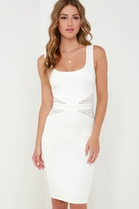 By My Side Ivory Lace Midi Dress at Lulus.com!