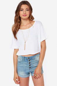 Obey Sixto Ivory Crop Tee at Lulus.com!