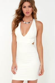 Like This and Like That Ivory Bodycon Dress at Lulus.com!