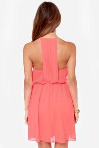 LULUS Exclusive Start Something Neon Pink Dress at Lulus.com!