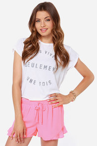 One Fine Day Neon Pink Shorts at Lulus.com!