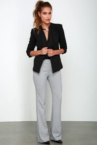 Showdown Grey Wide-Leg Pants at Lulus.com!