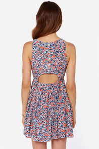 Mink Pink Passion Flower Orange Floral Print Dress at Lulus.com!