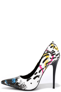 A Bit Party Black Multi Pointed Pumps at Lulus.com!