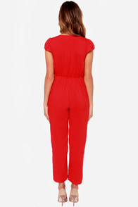 LULUS Exclusive Follow Suit Red Jumpsuit at Lulus.com!