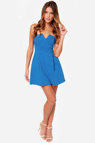 LULUS Exclusive A New Affair Strapless Blue Dress at Lulus.com!