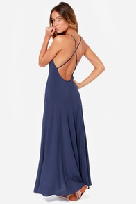 Blaque Label Turn of Phrase Navy Blue Maxi Dress at Lulus.com!