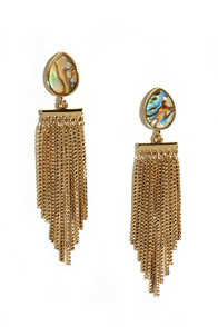 Abalone Cove Gold Earrings at Lulus.com!