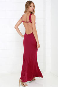 With an Open Heart Wine Red Backless Maxi Dress at Lulus.com!