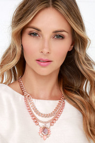 Glamorous Declaration Pink Statement Necklace at Lulus.com!
