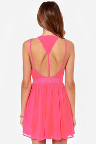LULUS Exclusive L.A. Lady Hot Pink Dress at Lulus.com!