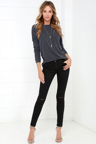 Obey Lean & Mean Classic Black Skinny Jeans at Lulus.com!