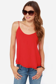 Lucy Love Go To Red Tank Top at Lulus.com!