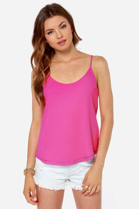 Lucy Love Go To Fuchsia Pink Tank Top at Lulus.com!