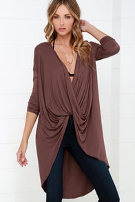 Sweeping Motion Maroon High-Low Top at Lulus.com!