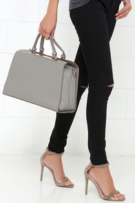 Doctor Up Grey Tote at Lulus.com!