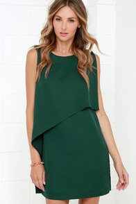 Give a Little Love Dark Green Dress at Lulus.com!