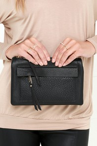 Dress Up Black Clutch at Lulus.com!