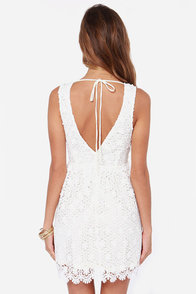 Top to Blossom Ivory Lace Dress at Lulus.com!