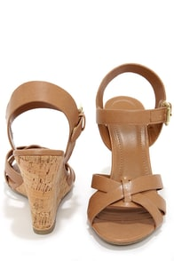 My Delicious Visola Blond Wedge Sandals at Lulus.com!