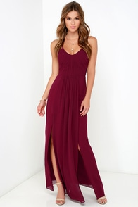 Bariano Test of Time Burgundy Maxi Dress at Lulus.com!