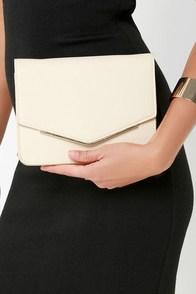 Seal Your Fate Beige Clutch at Lulus.com!