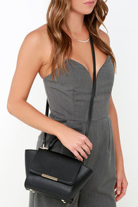 Wing the Alarm Black Mini Handbag at Lulus.com!