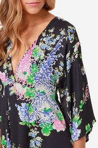 Fleur Real Navy Blue Floral Print Dress at Lulus.com!