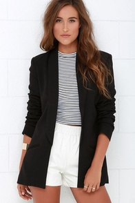 Mink Pink Endless Moonlight Black Blazer at Lulus.com!