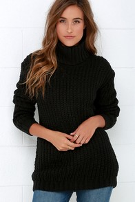 Mink Pink Another Night Black Sweater at Lulus.com!