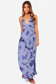 Into the Deep Blue Tie Dye Maxi Dress at Lulus.com!