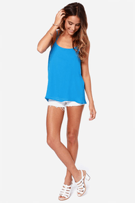 LULUS Exclusive Undivided Attention Blue Top at Lulus.com!