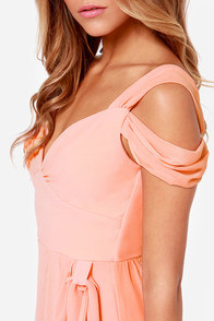 LULUS Exclusive Candied Petals Peach Maxi Dress at Lulus.com!