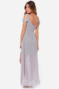 LULUS Exclusive Candied Petals Grey Maxi Dress at Lulus.com!