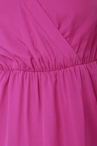 That's a Wrap Magenta Long Sleeve Dress at Lulus.com!